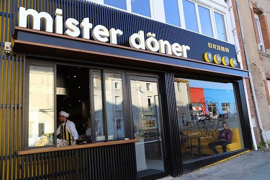 La façade du restaurant Mister Döner
